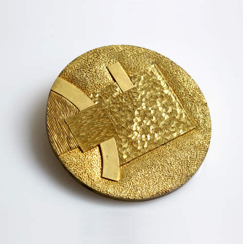"Eugene Pijanowski Untitled Medallion, 1980 Bronze 2½"" in diameter"