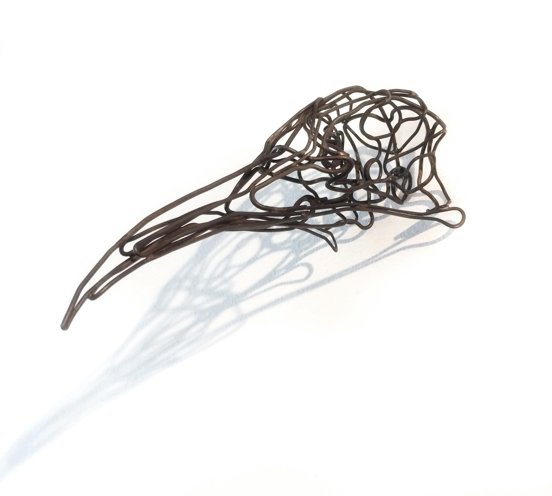 """Tom Hill, Bird Skull Study, (Wall hung), Steel, 2l x 6 x 5"""""""