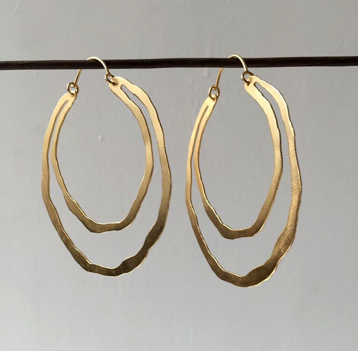 Lisa Crowder, Cutout Hoops, 14k gold vermeil