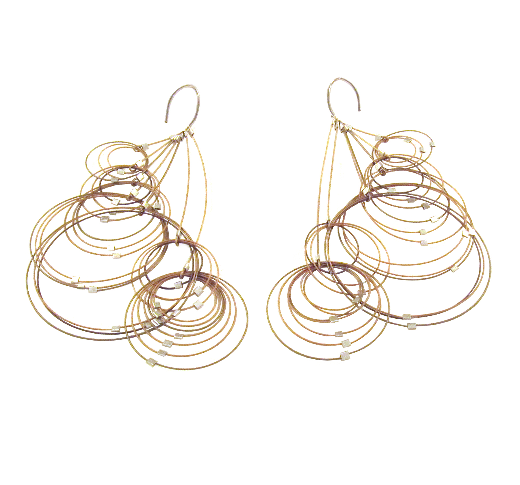 Meghan Patrice Riley, Waft Earrings, Nylon-coated steel, sterling silver