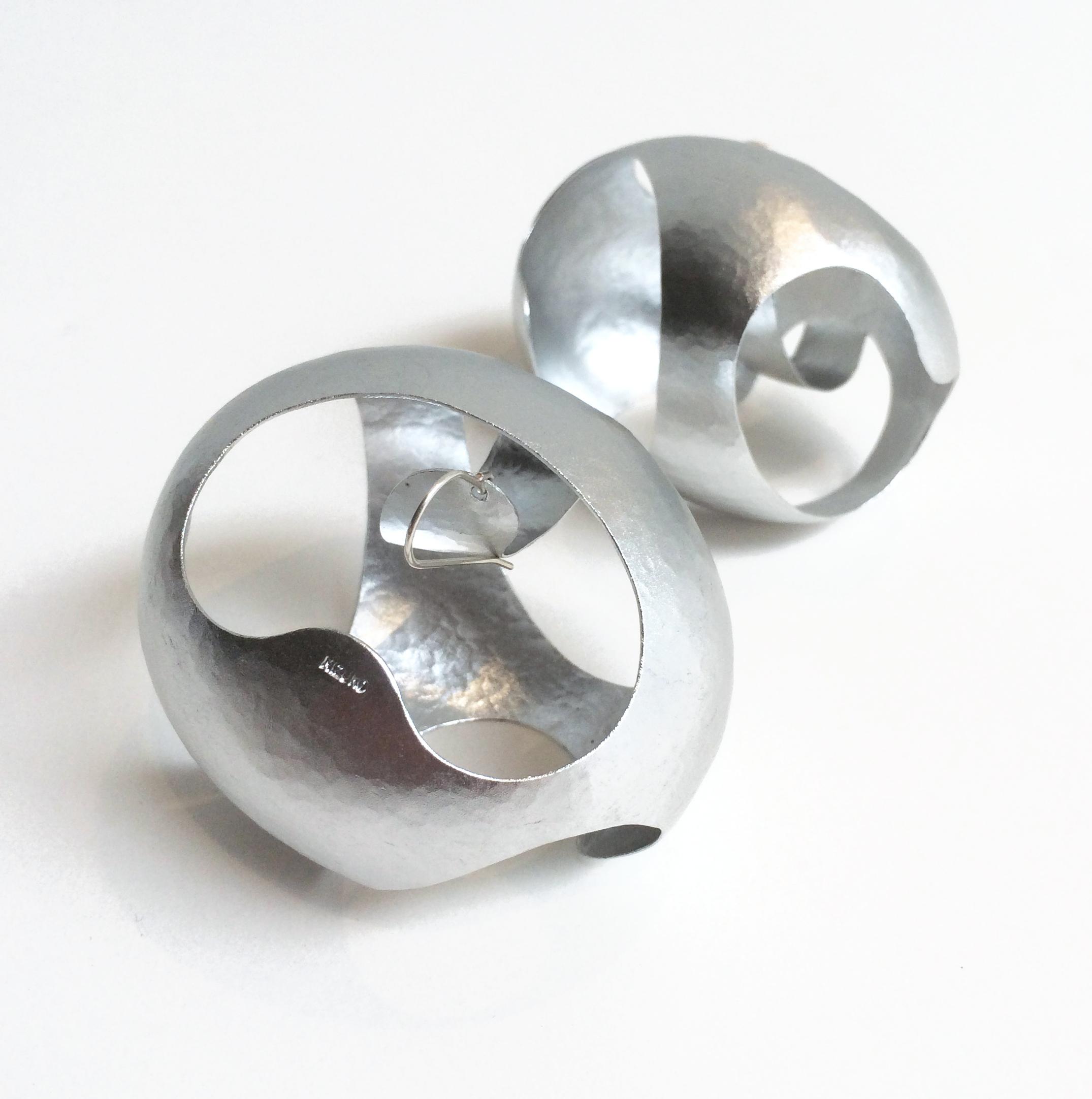 Mizuko Yamada, Earrings, Aluminum