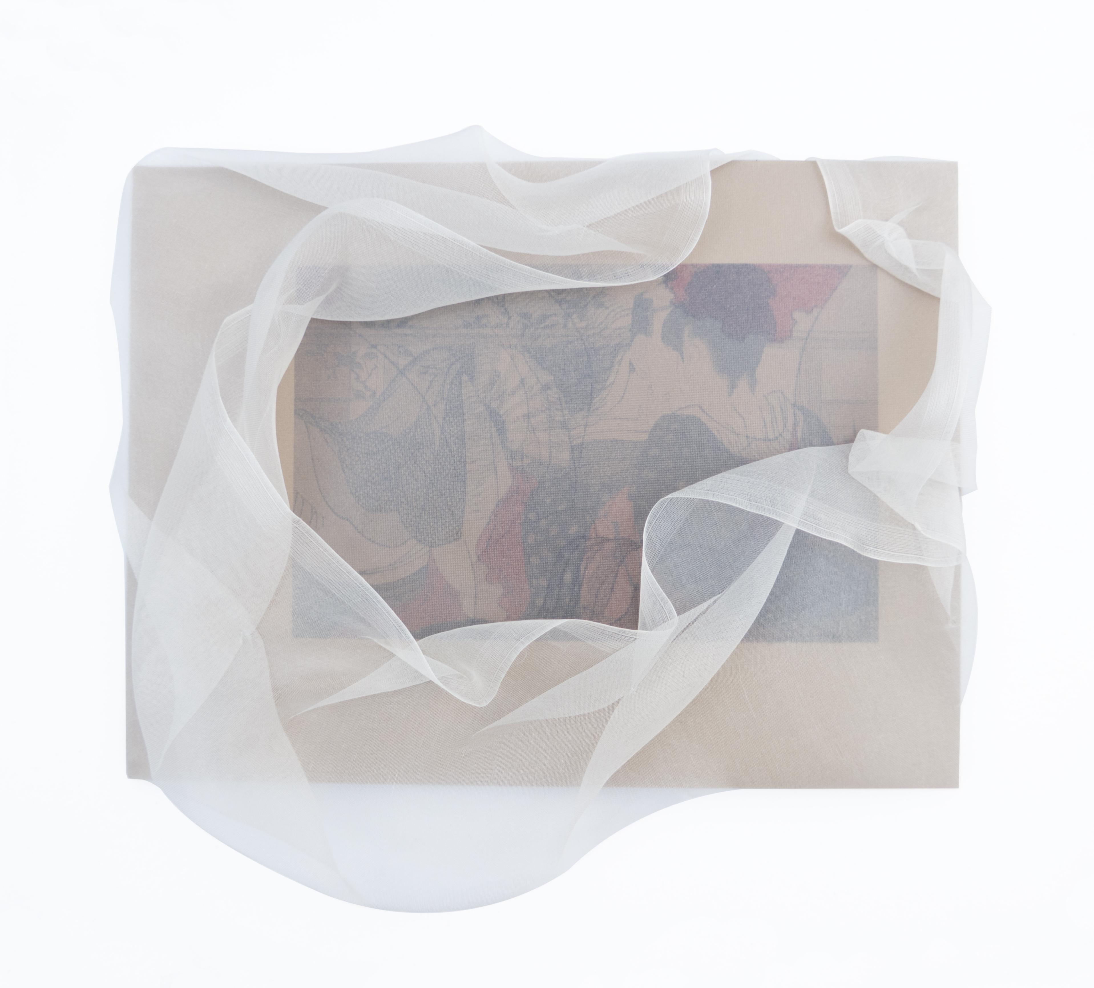 Kaori Juzu, Inbetween #1, 2016 Steel, textile, silk, plastic, magnet