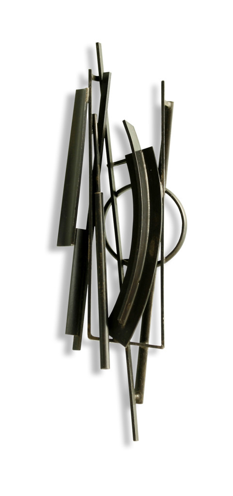 Ramón Puig Cuyàs, Spain, Silent Conversations beside the Wall II, Brooch, 2012, Nickel Silver