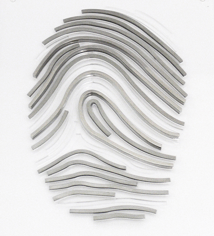 Fernanda Barba Soto, Mexico, Migrante No Identificado, (body jewelry), 2012, Stainless steel, acrylic