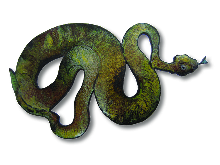 Thomas Hill, United Kingdom/United States, Milagros: Mohave Rattlesnake, (pendant), 2013, Copper, enamel