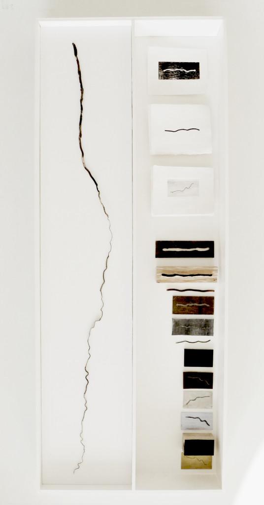 Martacarmela Sotelo, Mexico, Visiones de la frontera, Necklace, 2013, Sterling silver, copper, brass, enamel, oil paint, aluminum, wood, linoleum, plastic, paper, foam board, elastic